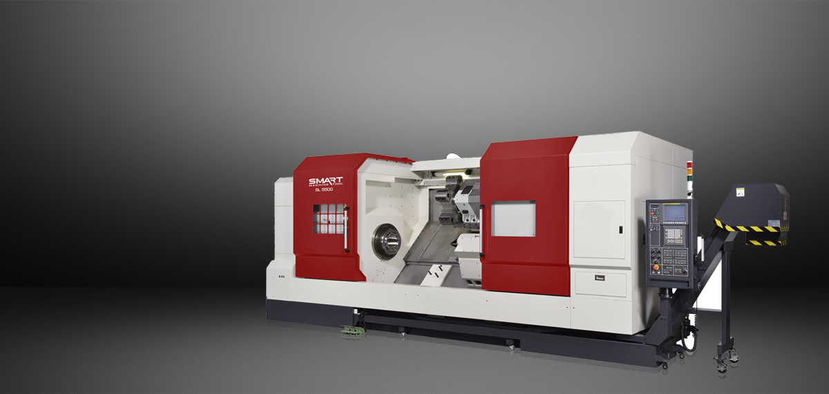 "SMART SL 5500 (L) – BOX WAY – (24"" Chuck) 2-Axis CNC Lathes"
