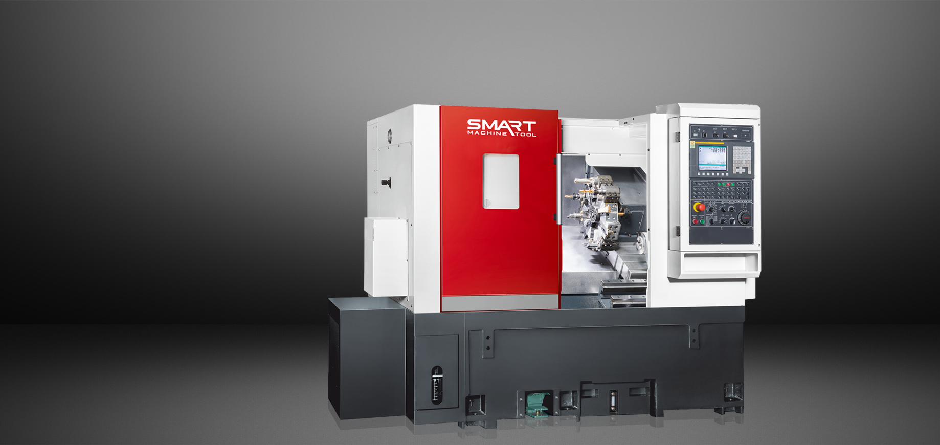 SMART SL 15M – LINEAR – (6″ Chuck) 3-Axis CNC Lathes