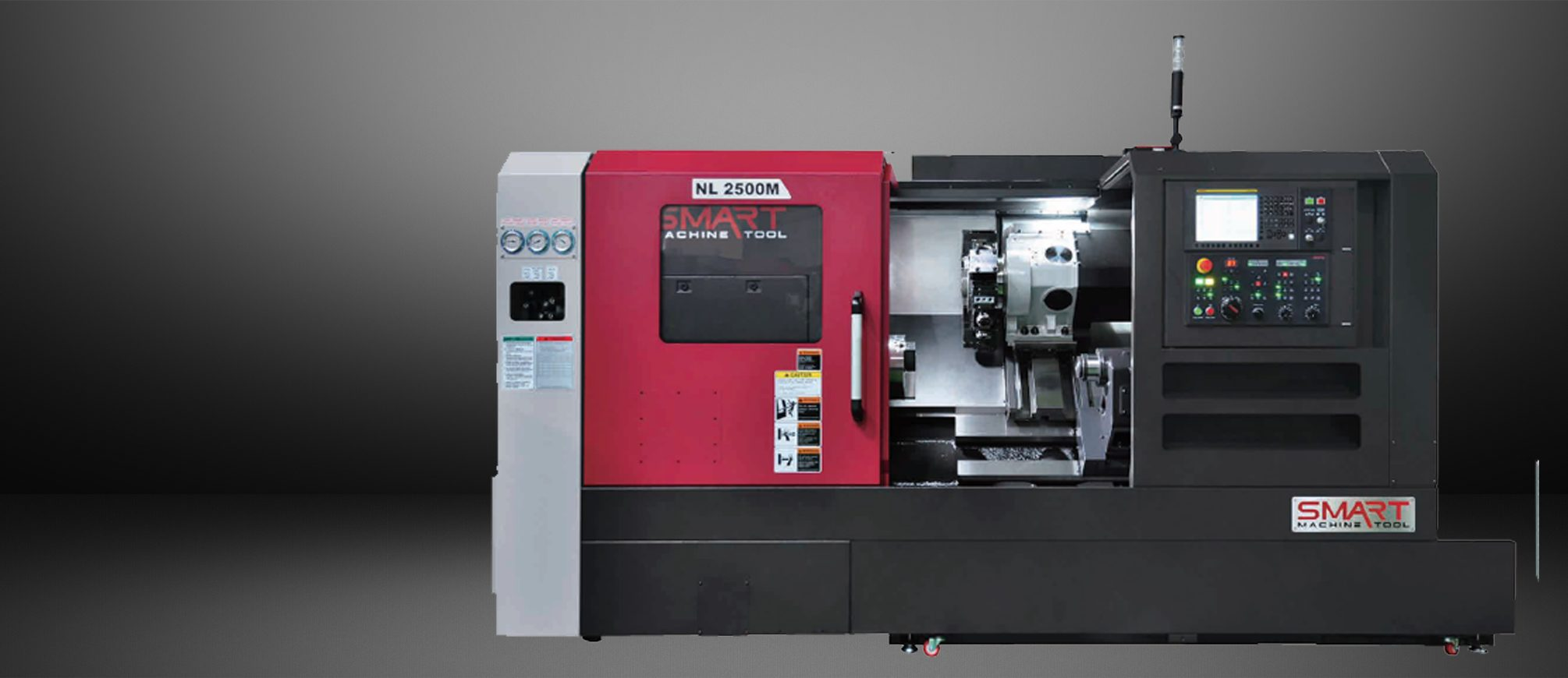 SMART NL 2500M/500 – BOX WAY – (10″ CHUCK) 3-Axis CNC Lathes