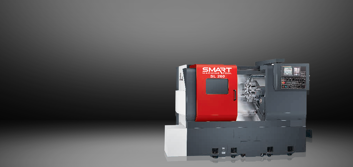 "SMART SL 260 – BOX WAY – (8″/10"" Chuck) 2-Axis CNC Lathes"