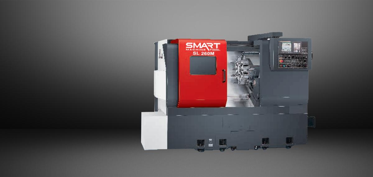 SMART SL 260M – BOX WAY – (10″ Chuck) 3-Axis CNC Lathes