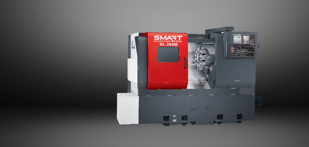 "SMART SL 280M (L) – BOX WAY – (10"" CHUCK) 3-Axis CNC Lathes"