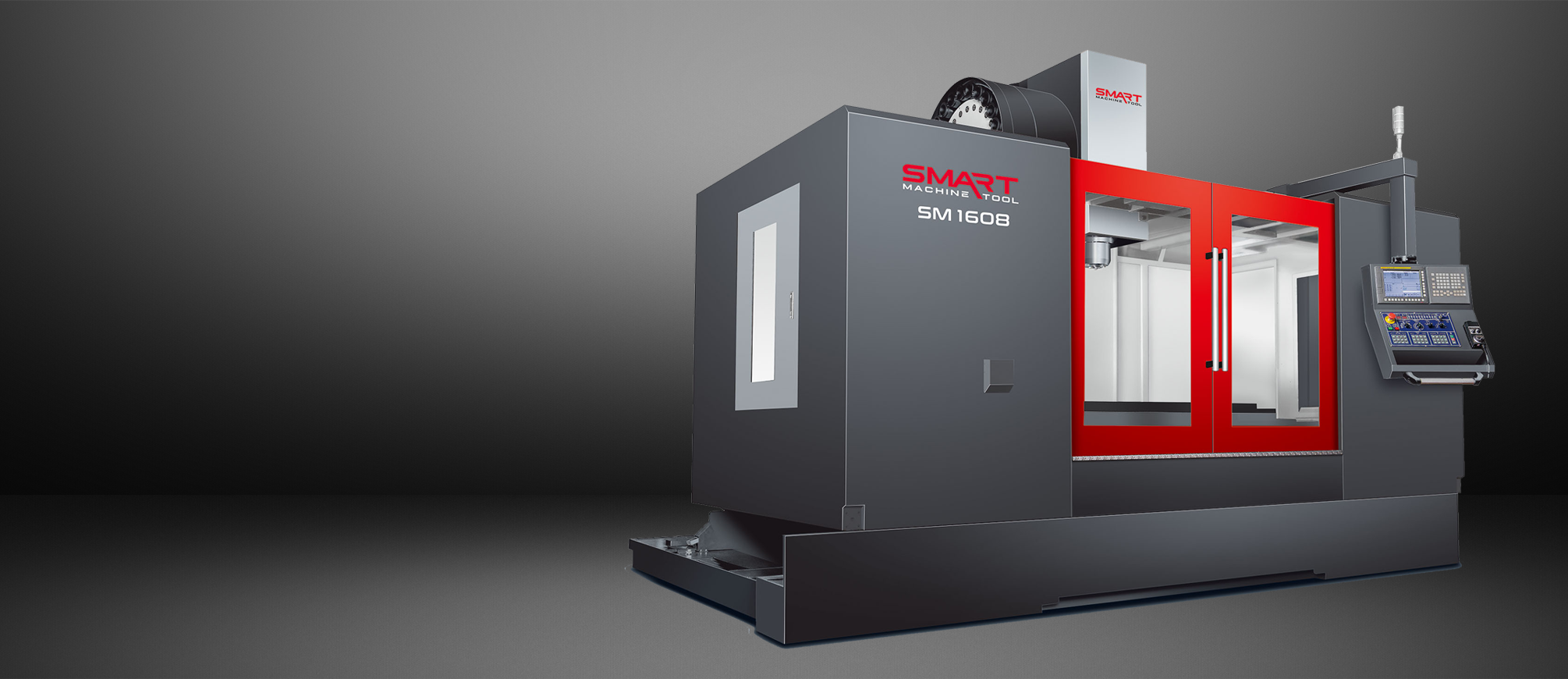 SMART SM 1608 – BOX WAY – (CAT50, 6K) Vertical Machining Centers